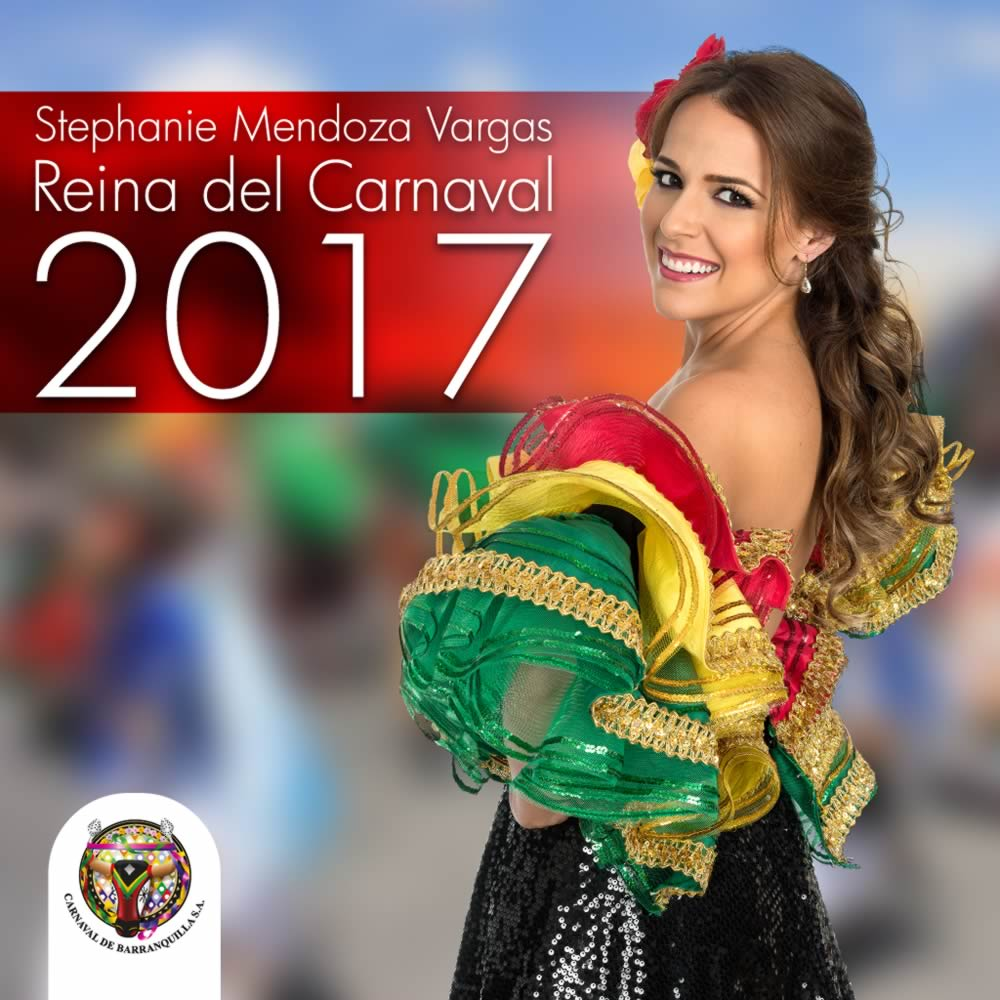 Junta Directiva designa a Stephanie Mendoza Vargas Reina del Carnaval de Barranquilla 2017