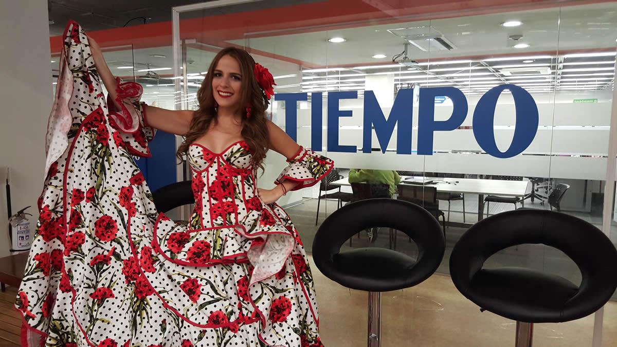 Exitosa gira de medios de la reina Stephanie Mendoza en Bogotá ...