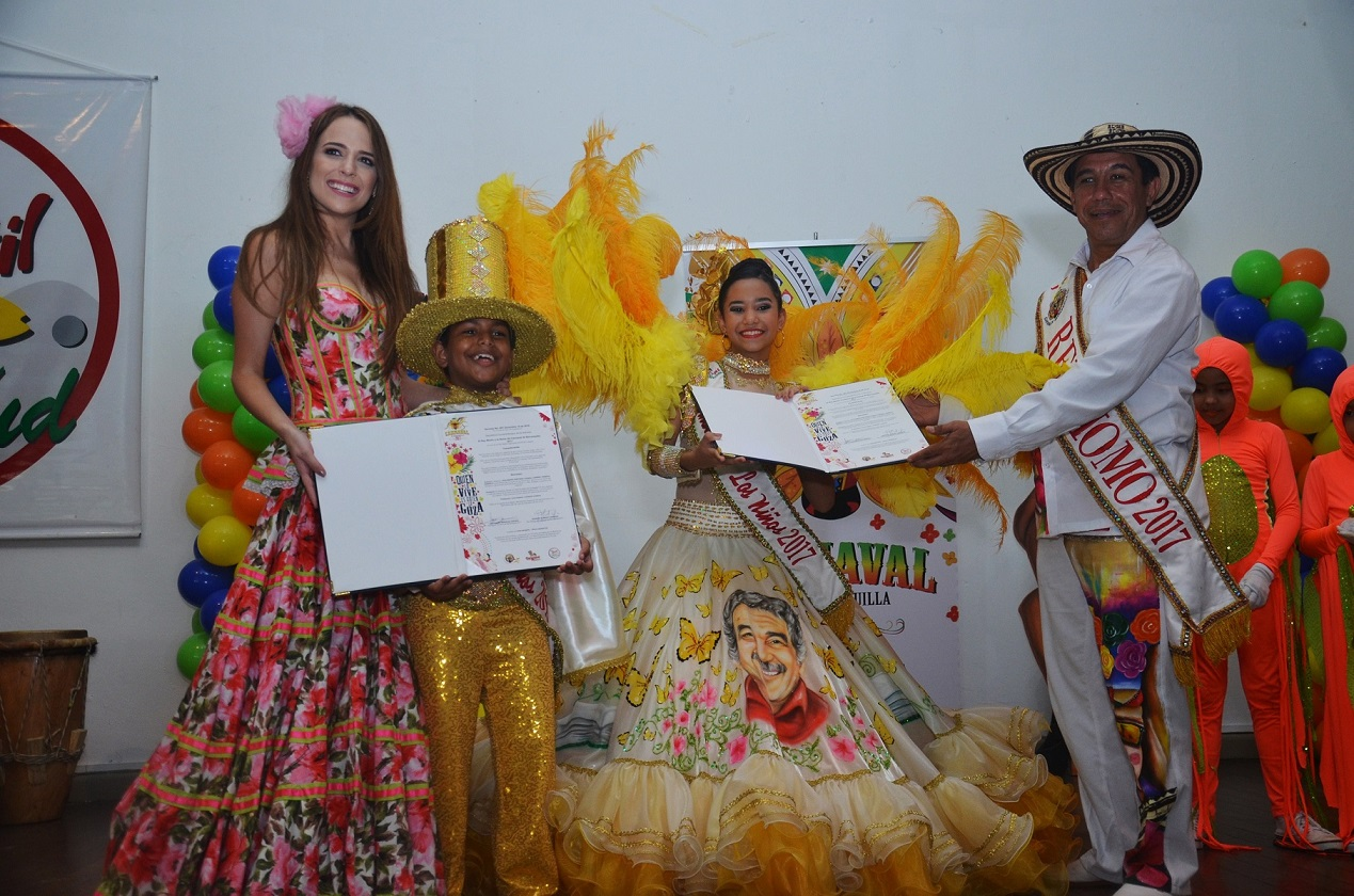 Con homenaje a Gabo, los Reyes del Carnaval de los Niños 2017 reciben sus decretos