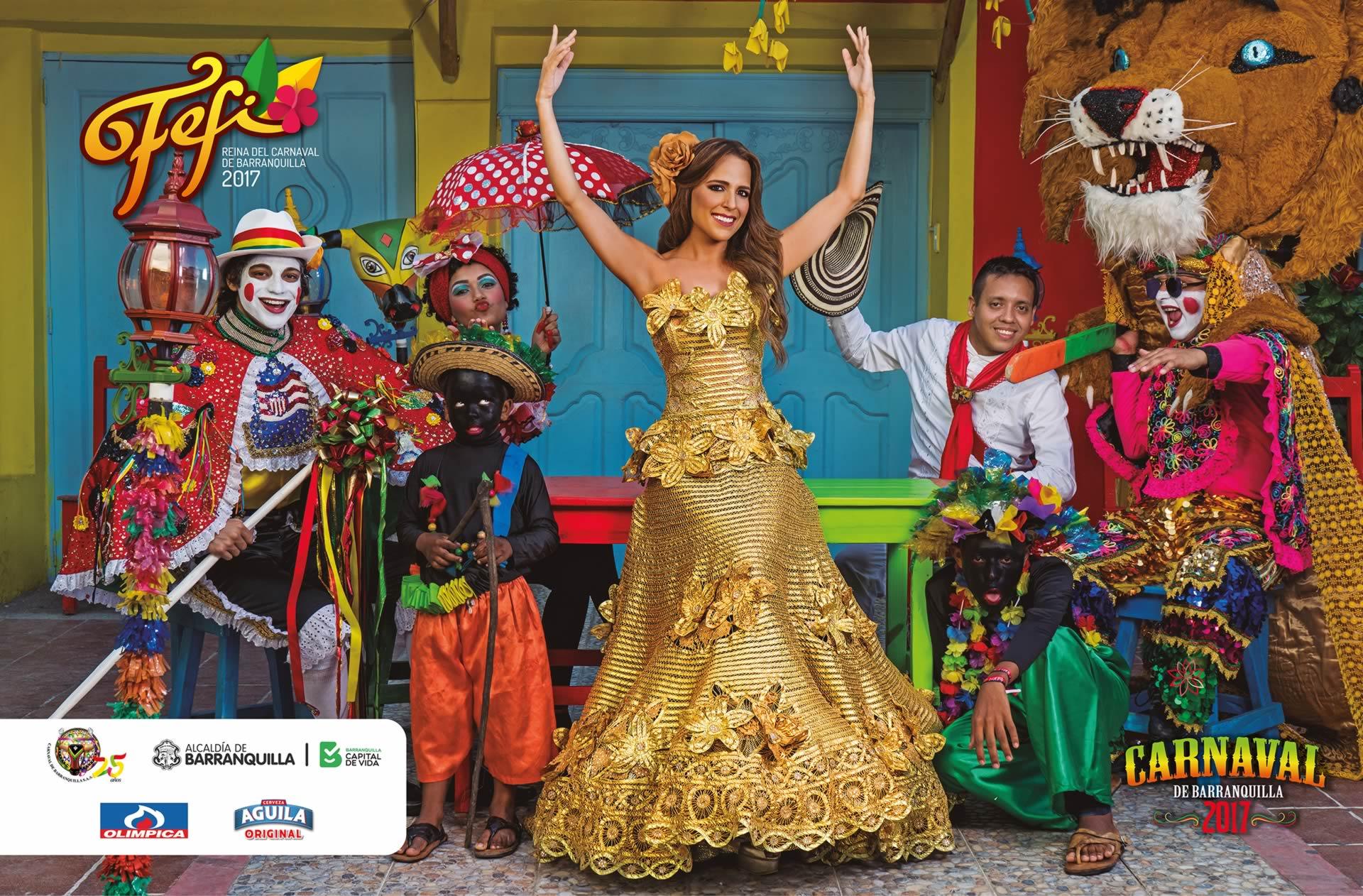 Afiches de los reyes del Carnaval, un homenaje a Barranquilla y a la Cumbia