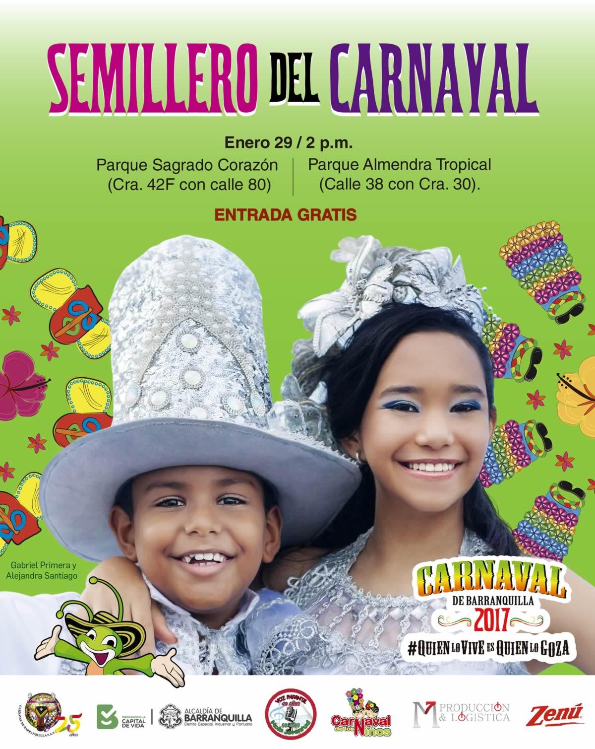El Parque Sagrado Corazón y el Parque Almendra reciben a los Semilleros del Carnaval