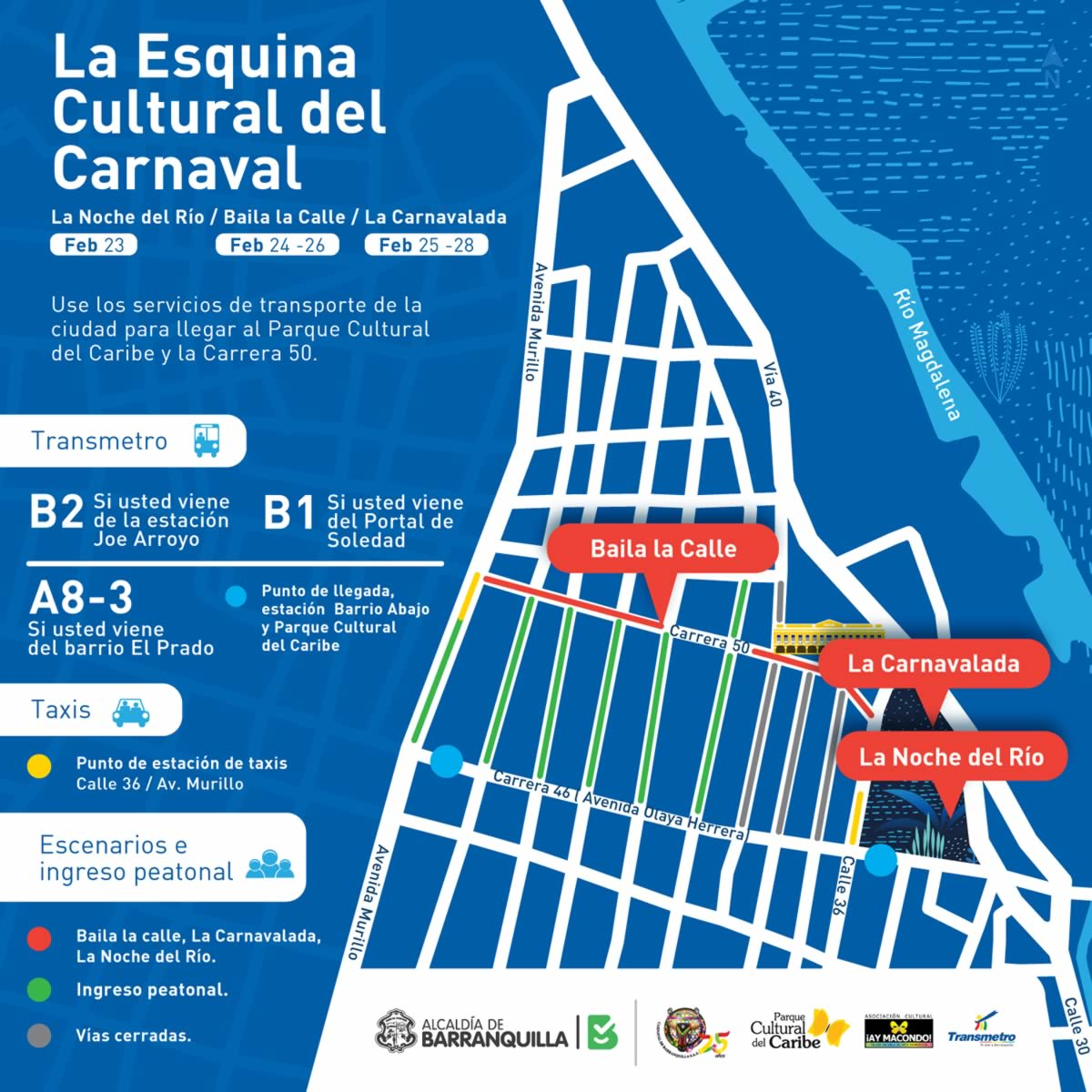 El Parque Cultural del Caribe y la Carrera 50, listos para ser la Esquina Cultural del Carnaval