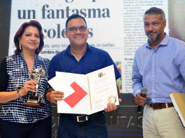 Categoría Prensa Escrita: Javier Franco, de El Tiempo.