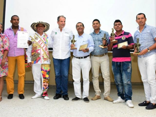 Los secretarios de Cultura de Barranquilla y el Atlántico también nos acompañaron en la ceremonia.
