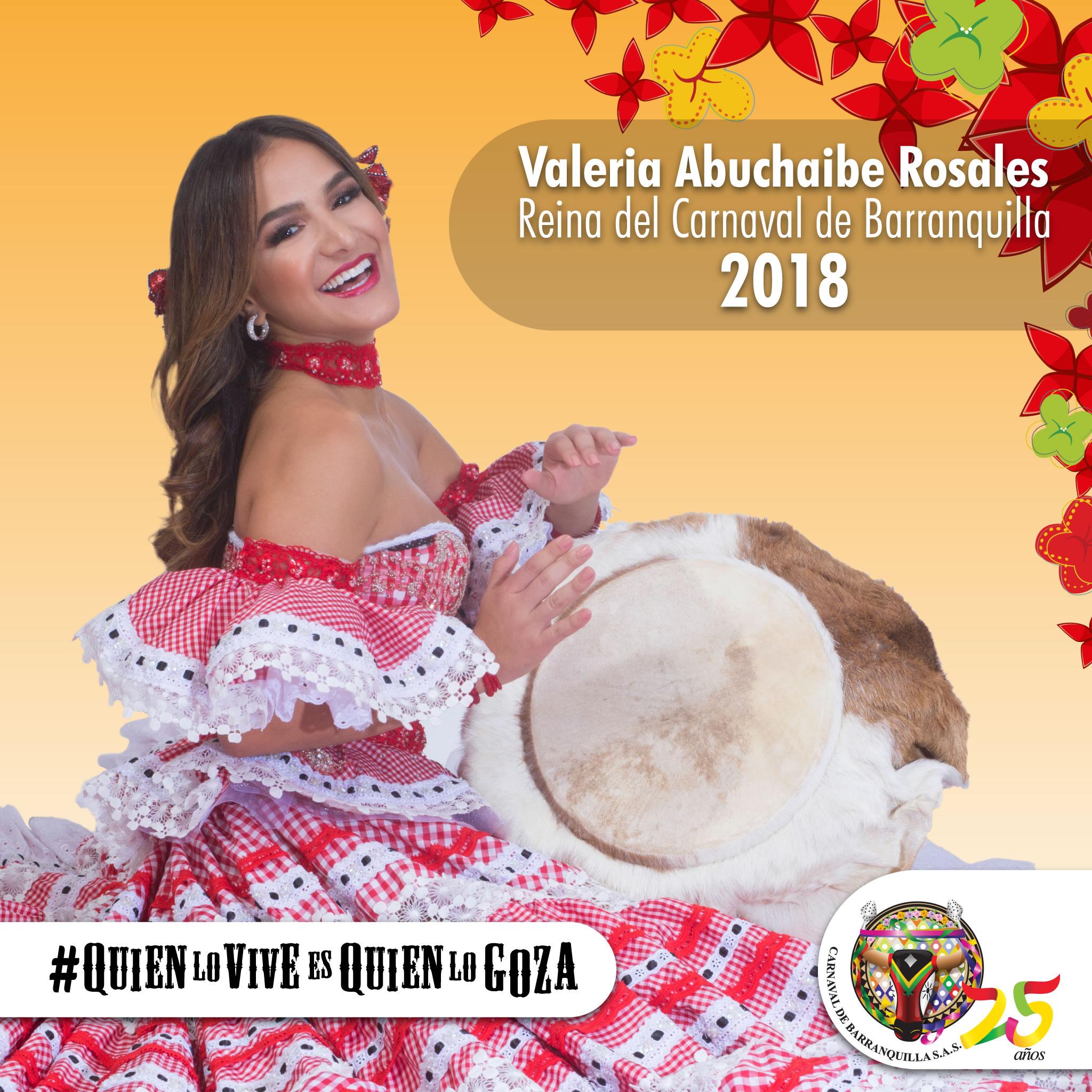 Valeria Abuchaibe Rosales es designada Reina del Carnaval de Barranquilla 2018