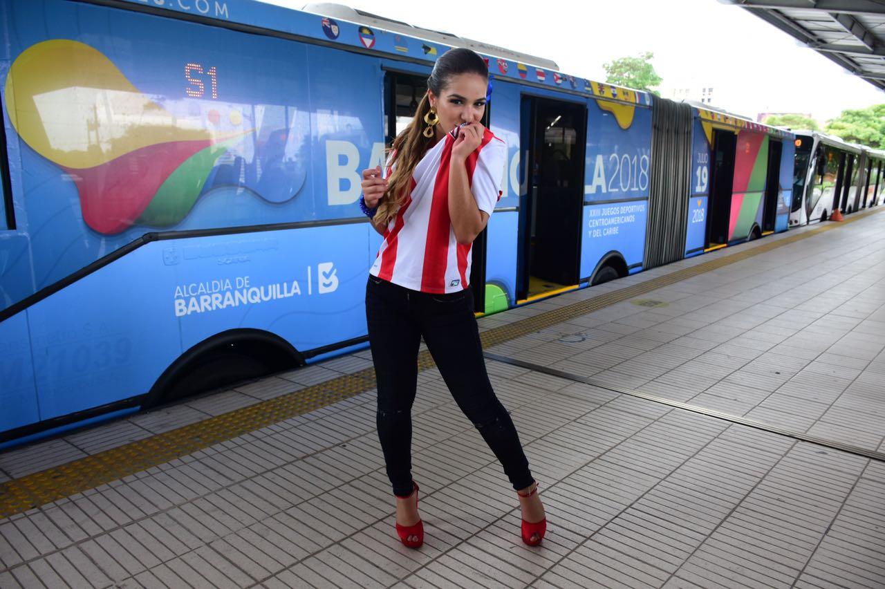 Valeria arribó el articulado que rinde homenaje a los Juegos Centroamericanos y del Caribe 2018.