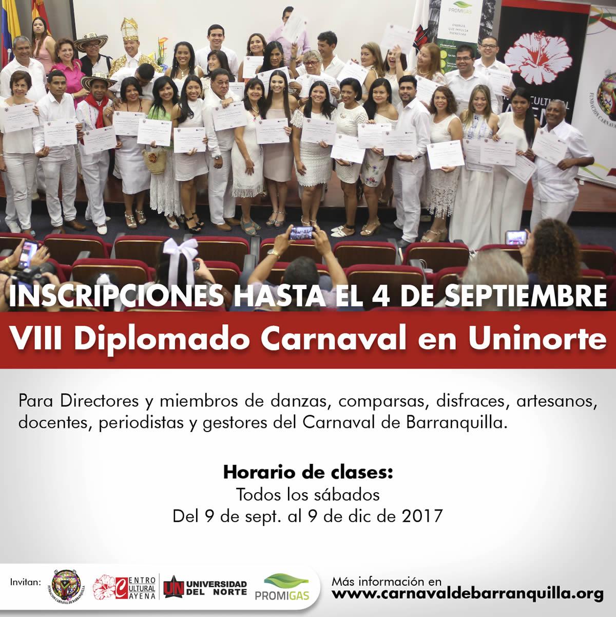 Fundación Carnaval y Promigas otorgan 30 becas para Diplomado en Uninorte