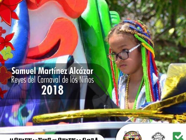 Samuel Martínez Alcázar - Rey Momodel Carnaval de los Niños 2018