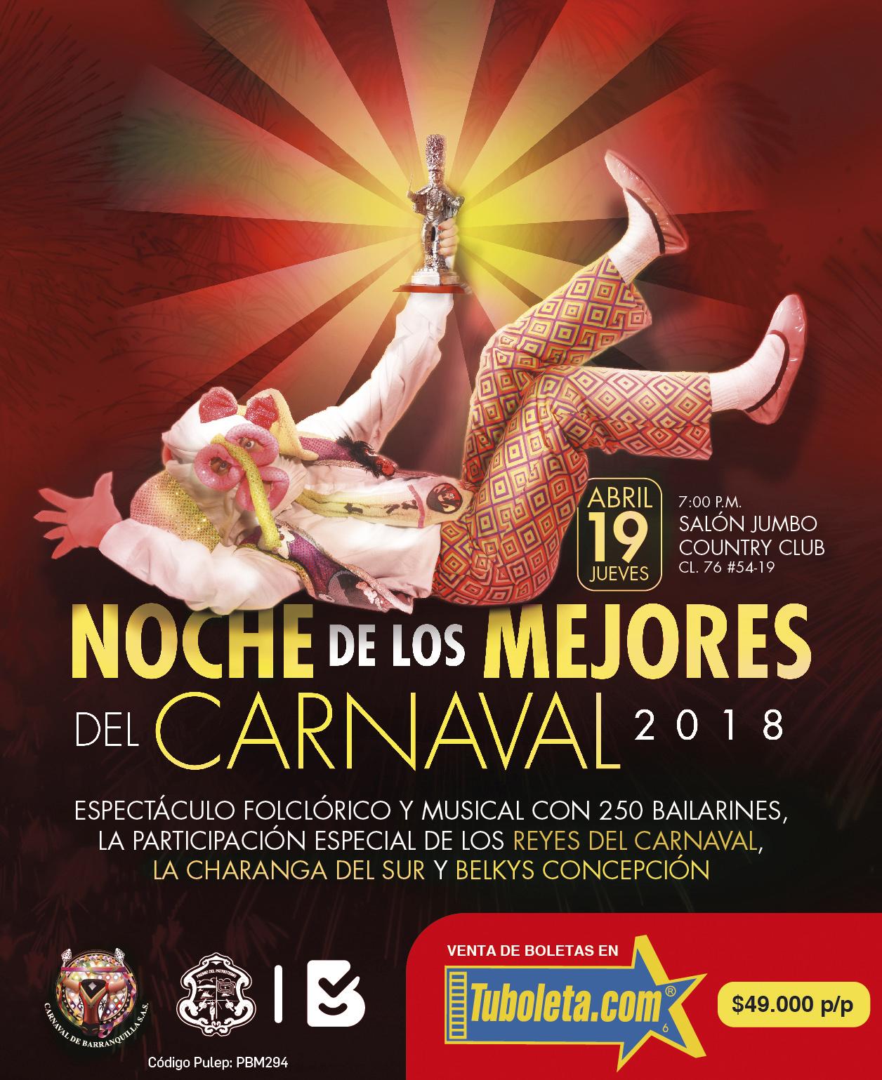 En abril, Barranquilla se viste de Carnaval con 'La Noche de los Mejores'
