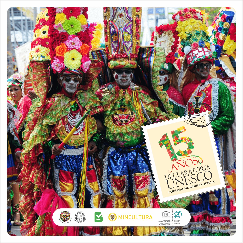 Carnaval de Barranquilla celebra 15 años como Patrimonio de la Humanidad
