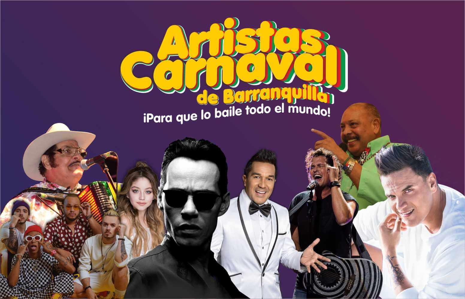 Grandes estrellas de la música en el Carnaval 2019, ¡Para que lo baile todo el mundo!