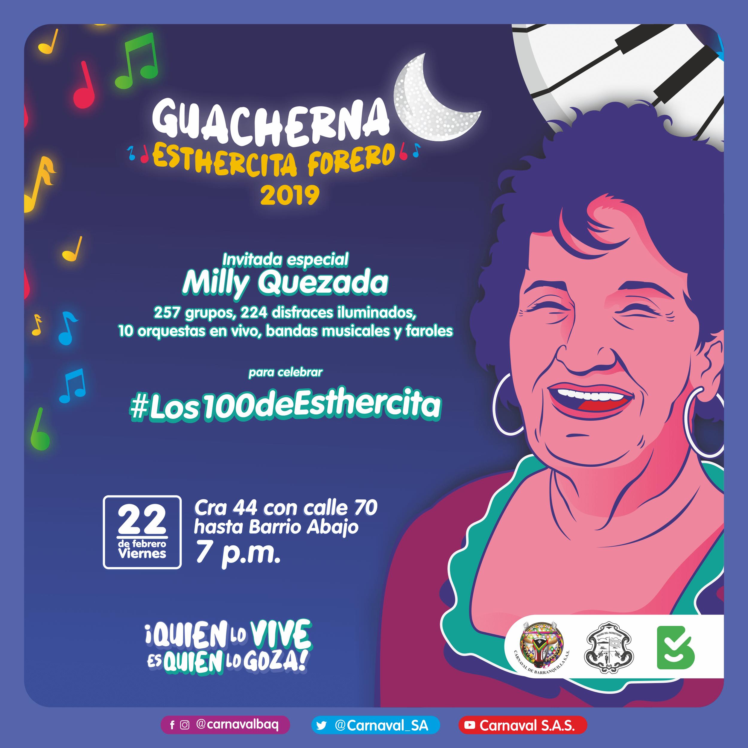 Guacherna al ritmo de las canciones de Esthercita Forero, 'la novia de Barranquilla'
