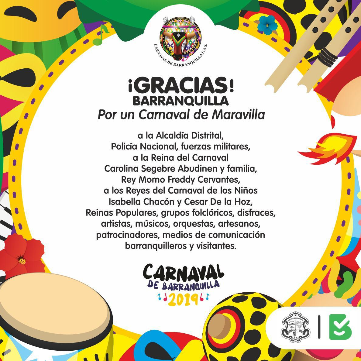 El 2019, fue un Carnaval de maravilla ¡que bailó todo el mundo!
