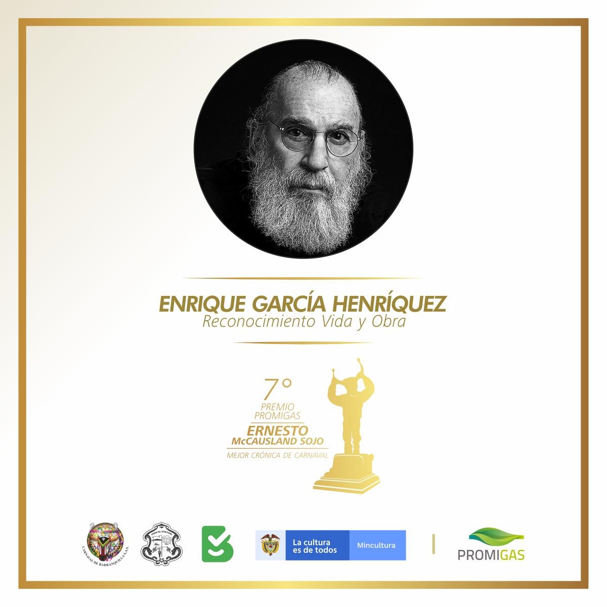 Premio McCausland entrega Reconocimiento 'Vida y Obra' al maestro Enrique García