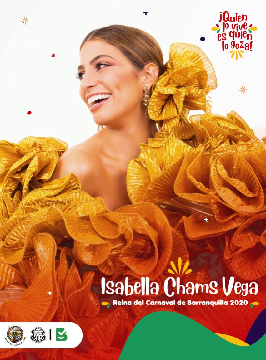 Isabella Chams Vega designada Reina del Carnaval de Barranquilla 2020