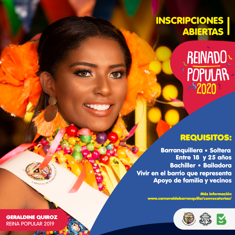 Reinado Popular del Carnaval 2020, tiene abiertas sus inscripciones