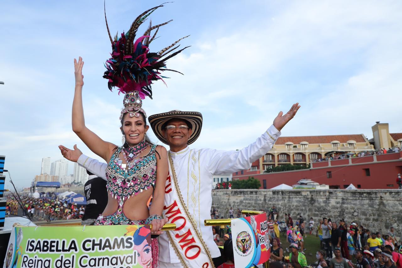 Los Reyes del Carnaval de Barranquilla conquistaron con su alegría Cartagena