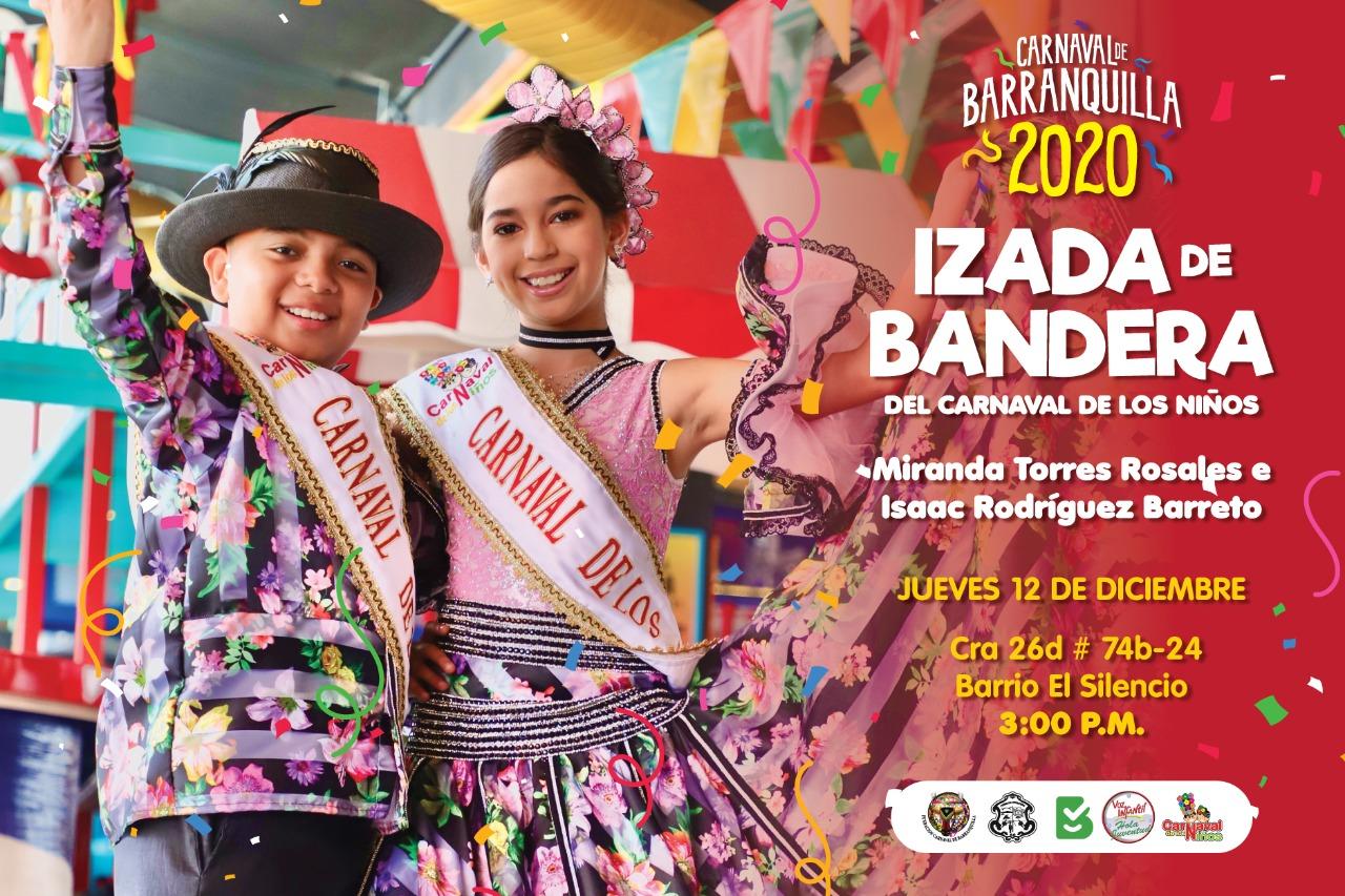 Este jueves 12 de diciembre, izada de bandera del Carnaval de los Niños 2020