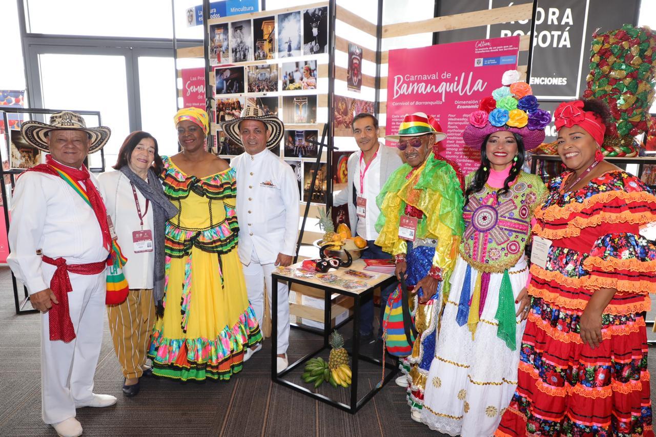 En feria 'Viviendo el Patrimonio', Carnaval de Barranquilla fue el gran protagonista