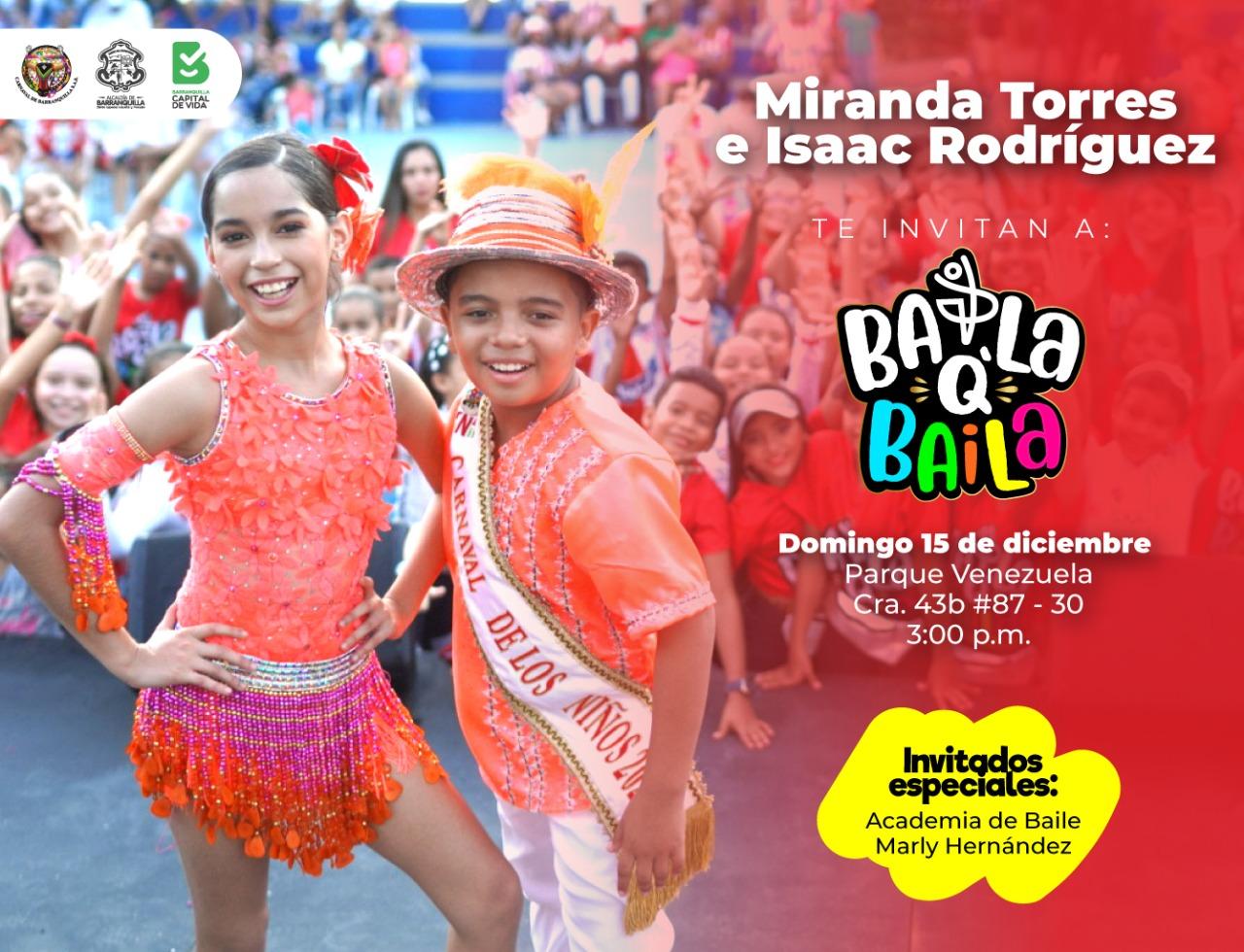 BailaQBaila continúa en el Parque Venezuela con los Reyes del Carnaval de los Niños 2020