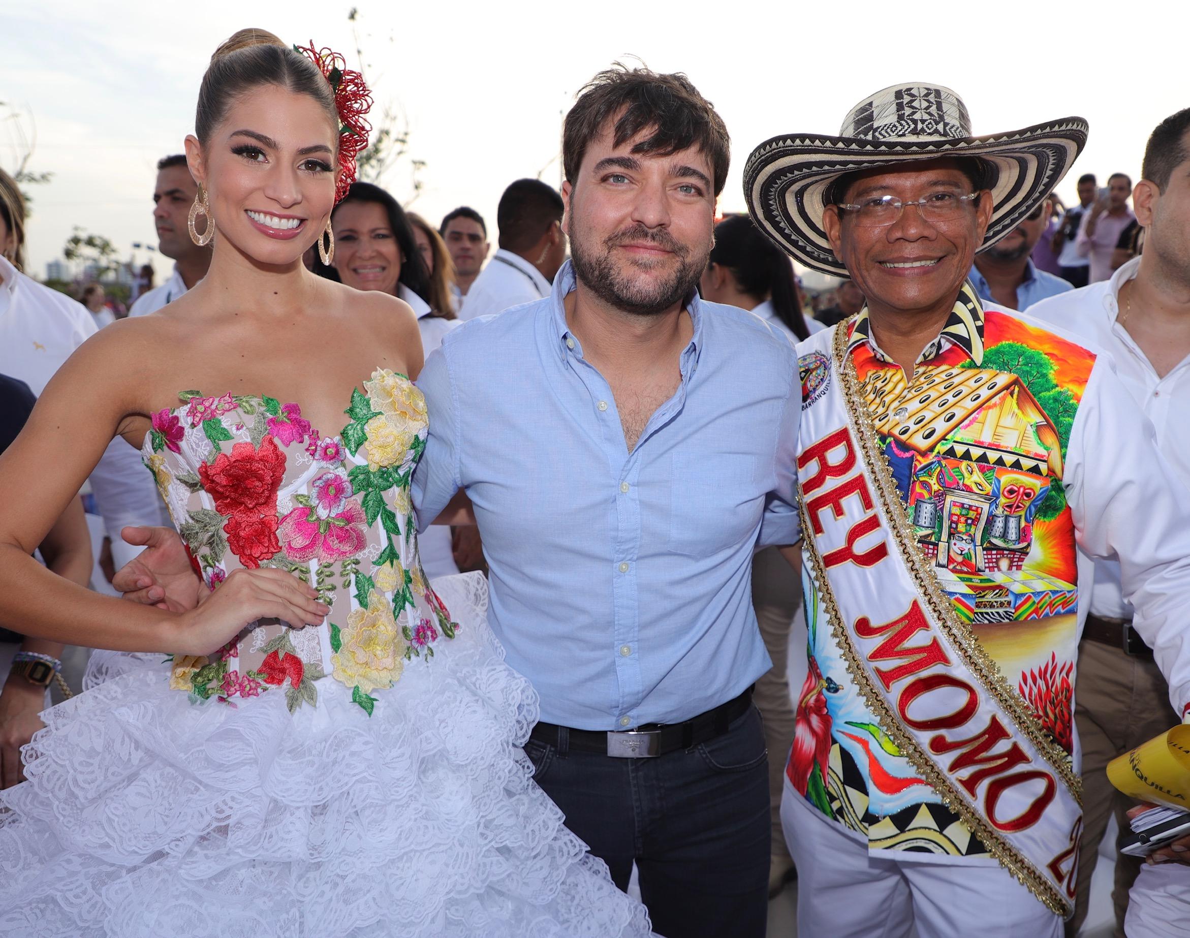 Isabella acompañó al alcalde Pumarejo, por un Carnaval 'Imparable'