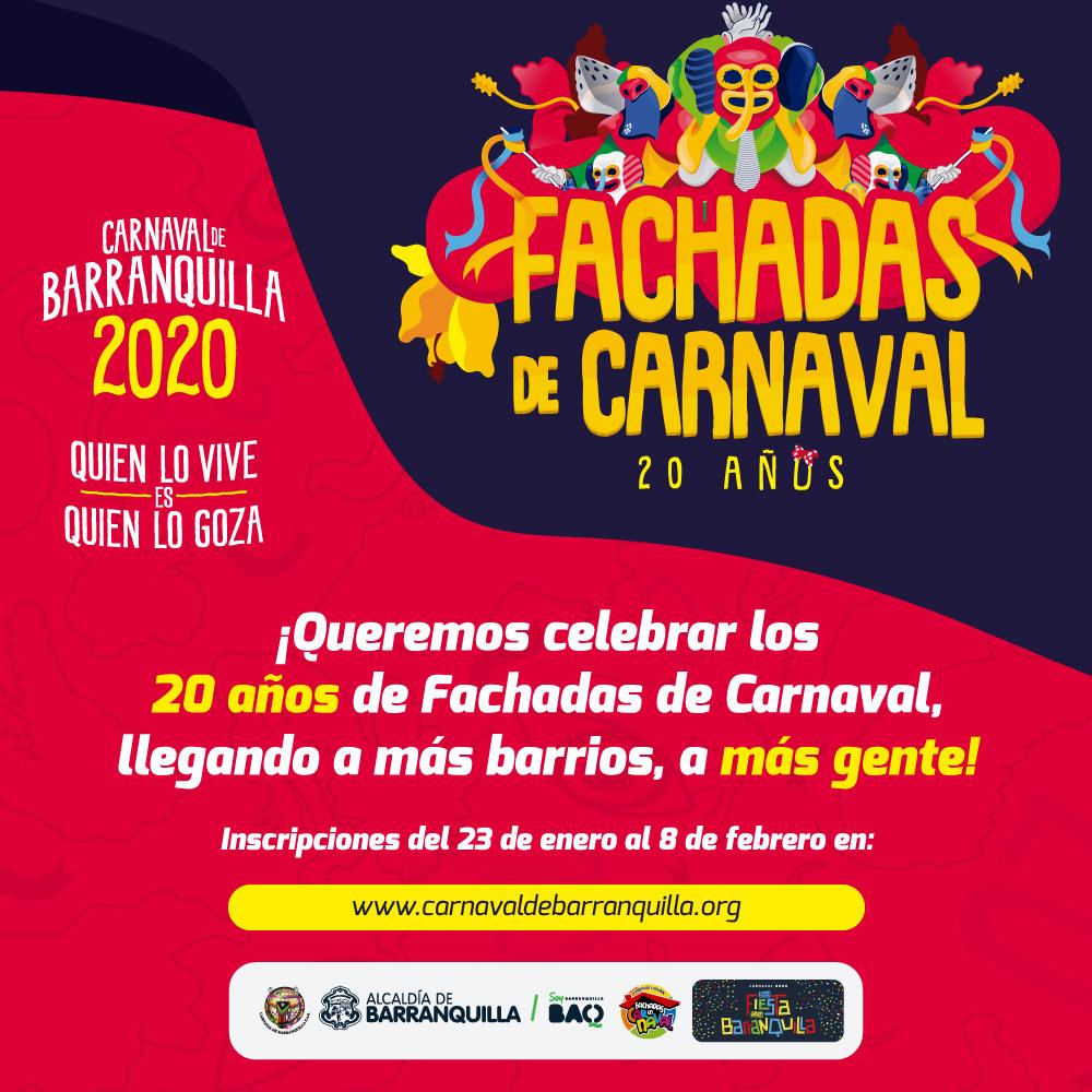 Abiertas inscripciones del concurso Fachadas de Carnaval en sus 20 años