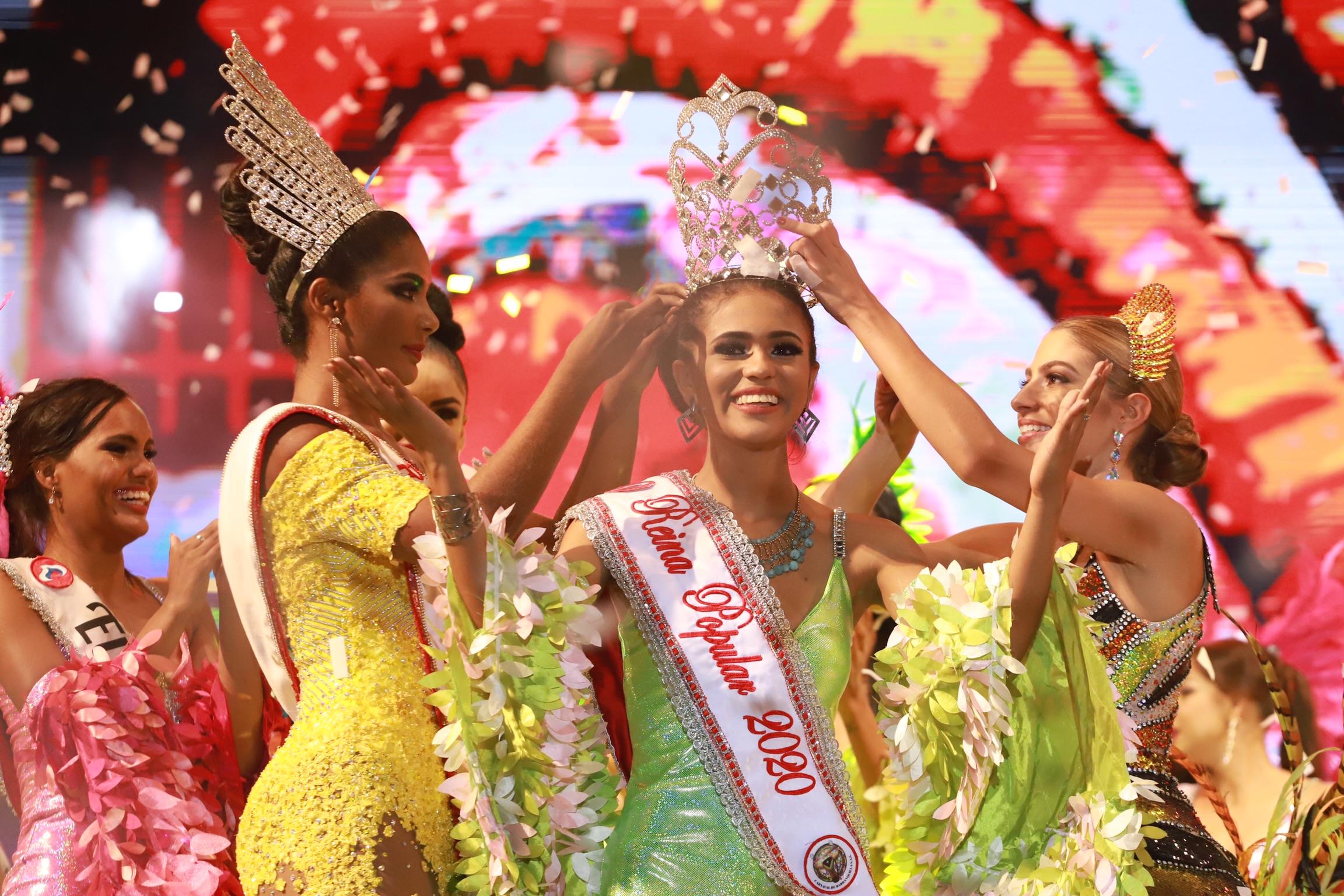 Melanee Cantillo del barrio Evaristo Sourdis Reina Popular del Carnaval 2020
