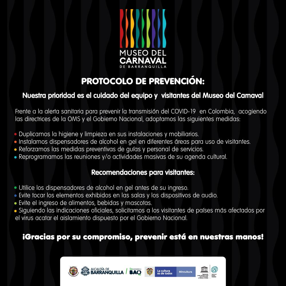 PROTOCOLO DE PREVENCIÓN MUSEO DEL CARNAVAL