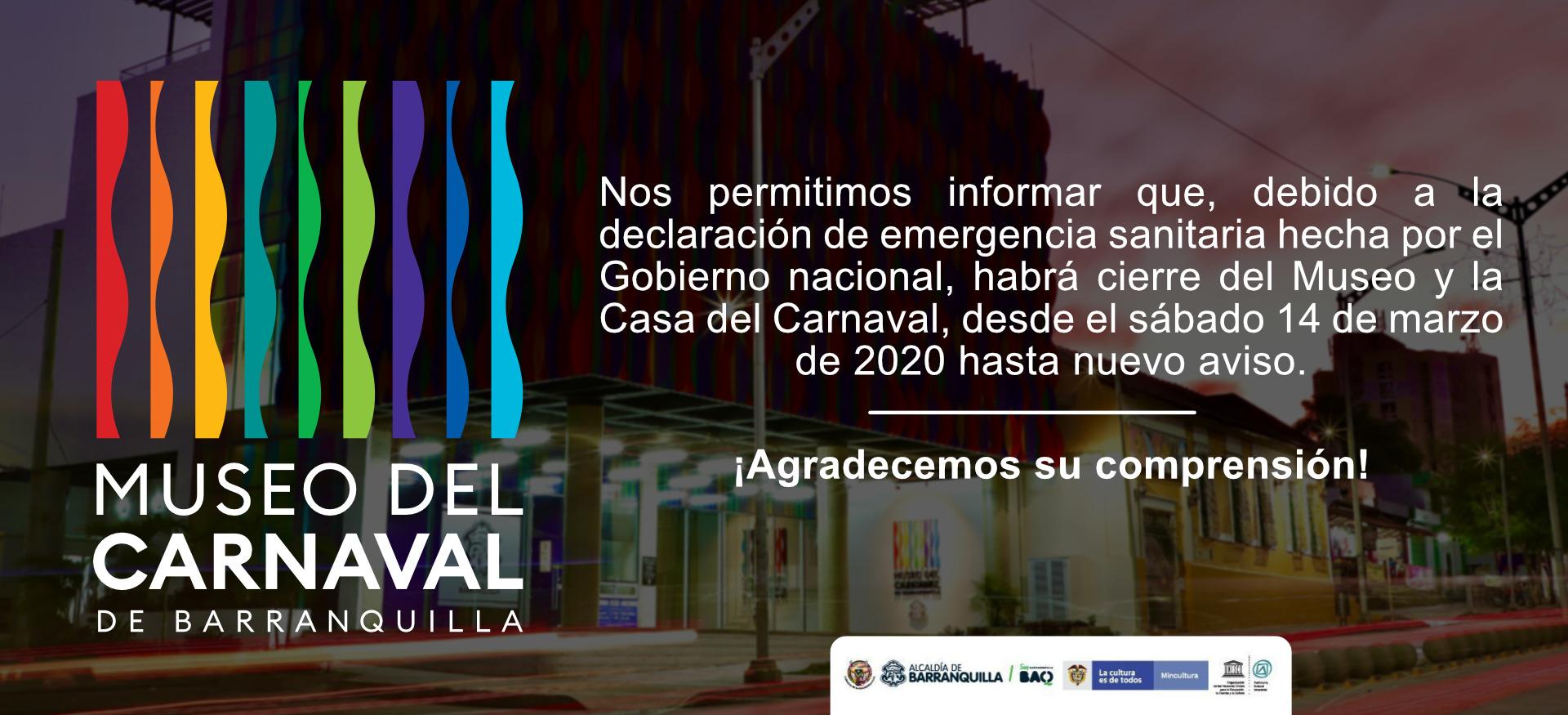 Museo y Casa del Carnaval cierran temporalmente por prevención del Covid-19