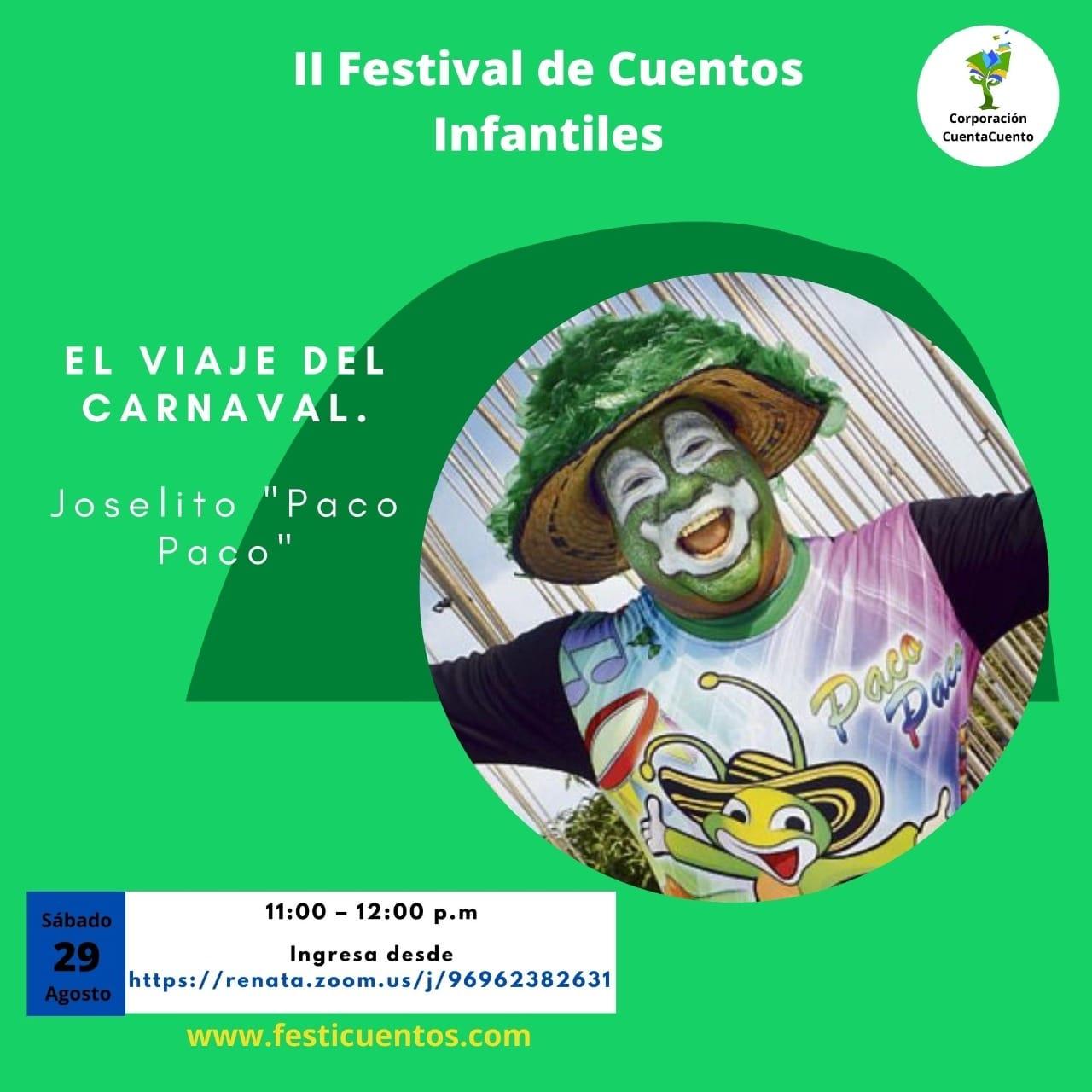 'El Viaje del Carnaval' invitado al Festival de Cuentos Infantiles de Cartagena
