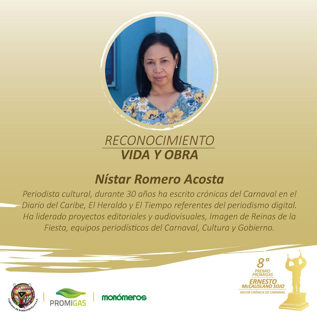 Carnaval entrega reconocimiento Vida y Obra a Nístar Romero Acosta, por enaltecer la Fiesta con sus crónicas