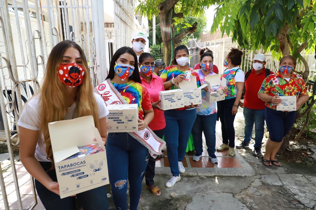 CARNAVAL Y PROMIGAS ENTREGAN TAPABOCAS A HACEDORES Y COMUNIDADES PARA SU PROTECCIÓN