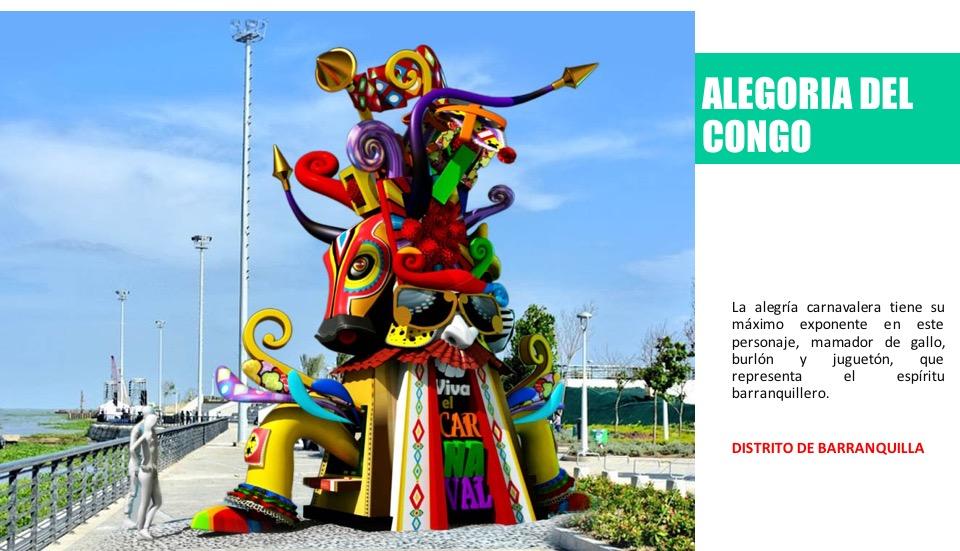 Exposición a cielo abierto de figuras del Carnaval de Barranquilla