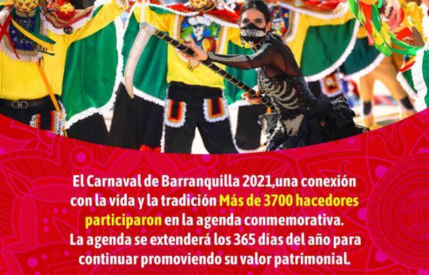 El Carnaval de Barranquilla 2021, un ejemplo mundial de tradición e innovación