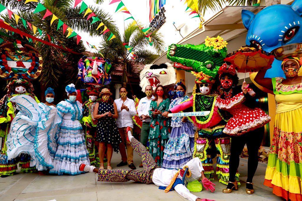 Carnaval de Barranquilla recibió  delegación de la Asamblea del BID