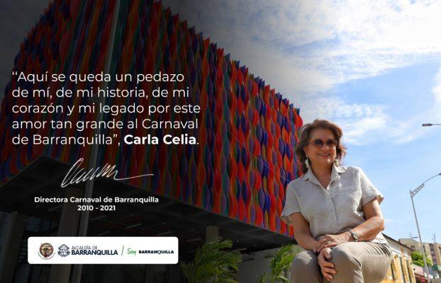 Después de 11 años de gestión Carla Celia se retira de la dirección de Carnaval de Barranquilla
