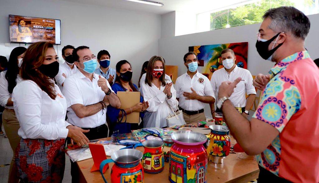 Emprendedores del Carnaval en la presentación del Fondo Emprender del Sena
