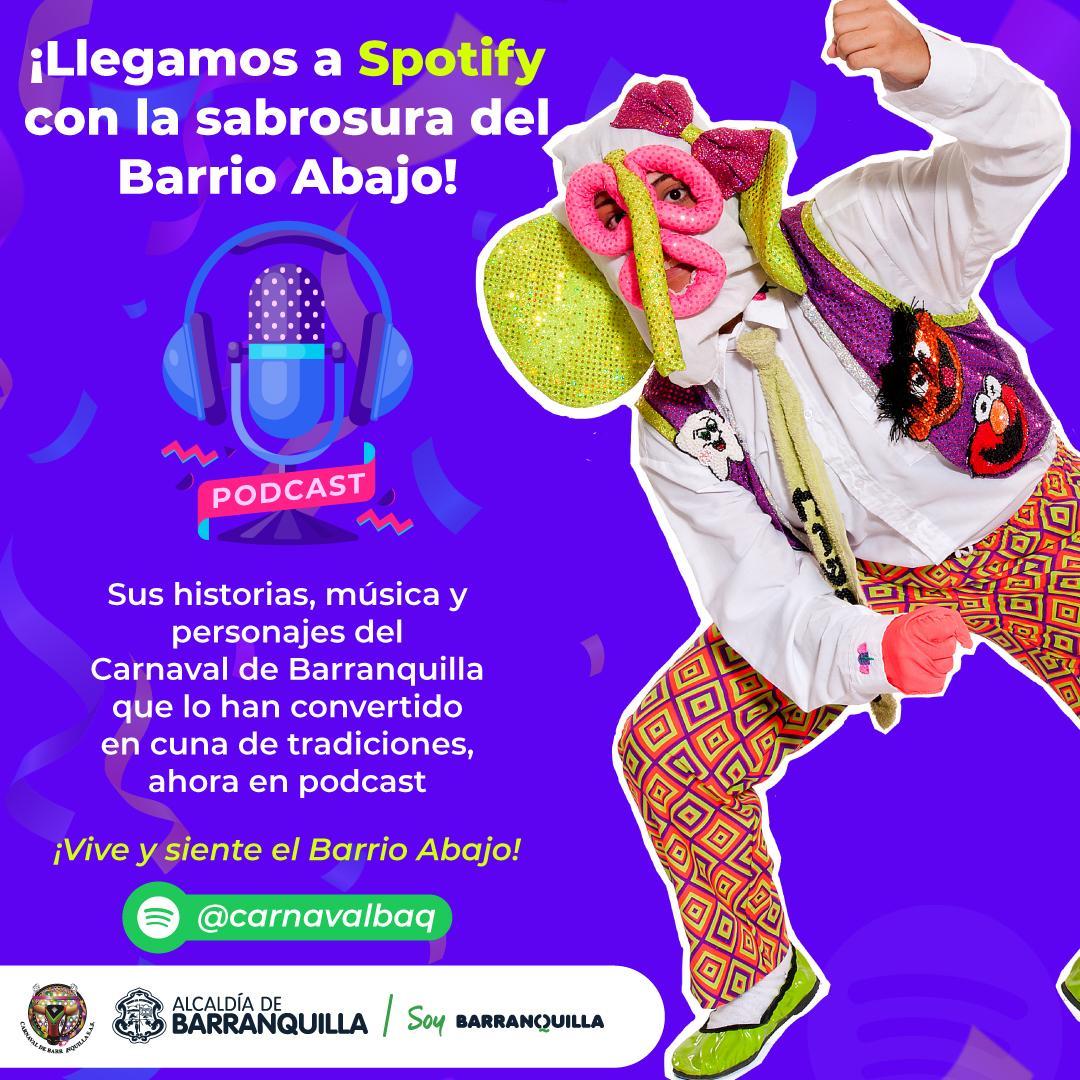 Carnaval de Barranquilla se estrena en Spotify con podcasts sobre Barrio Abajo